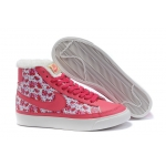 Nike Blazers High Tops Womens Shoes Pink White
