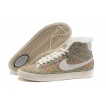 Nike Blazers Womens High Tops Flowers Shoes Green