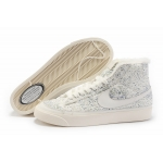 Nike Blazers Womens High Tops Flowers Shoes White