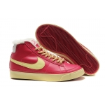 Nike Blazers Womens High Tops Fur Shoes Red Yellow