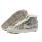 Nike Blazers Womens High Tops Shoes Aqua White