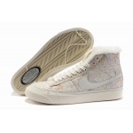 Nike Blazers Womens High Tops Shoes Beige White