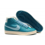 Nike Blazers Womens High Tops Shoes Dark-Light Blue