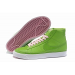 Nike Blazers Womens High Tops Shoes Green Pink