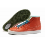 Nike Blazers Womens High Tops Shoes Orange Blue