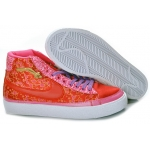 Nike Blazers Womens High Tops Shoes Orange Pink Purple