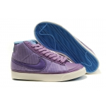 Nike Blazers Womens High Tops Shoes Purple Blue