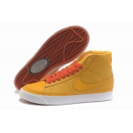 Nike Blazers Womens High Tops Shoes Yellow Orange