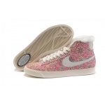 Nike Blazers Womens High Tops Sunflowers Shoes Pink