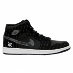 Air Jordan 1 Black White Silver Dark Charcoal 325514-012