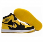 Air Jordan 1 High Black White Varsity Maize 136085-072