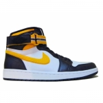 Air Jordan 1 High L.A Lakers Strap Grand Purple Varsity Maize wht 342132-571
