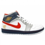 Air Jordan 1 Olympics White Varsity Red Midnight Navy Metallic 136085-161