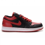 Air Jordan 1 Phat Low Black Red White 338145-061