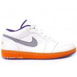 Air Jordan I PHAT Low Phoenix Suns Home White Ceramic Crt Purple Stealth 350571-181