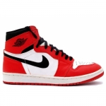 Air Jordan Retro 1 (I) 1994 White Black Red 130207-101
