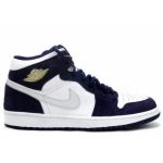 Air Jordan Retro 1 White Metallic Silver Midnight Navy 136065-101