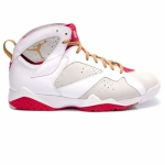 Air Jordan Retro 7 Year Of The Rabbit Light Silver Metallic Gold White 459873-005