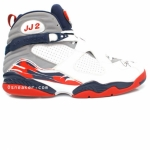 Air Jordan 8 JJ 2 Joe Johnson Autographed Game Used Home PE FA07-MJ910Z