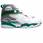 Air Jordan 8 Ray Allen Boston Celtics Home PE White Green