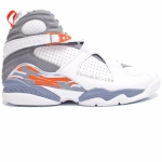 Air Jordan 8 Retro White Orange Blaze Silver Stealth 305381-102