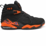 Air Jordan 8 TS2 Fred Jones Away New York Knicks PE Black Orange