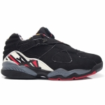 Air Jordan Retro 8 Low Playoff Black True Red Del Sol 306157-061