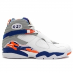 Air Jordan Retro 8 PE Q Rich White Blue Ribbon Orange Flash 305381-141