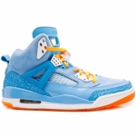 Air Jordan Spiz'ike University Blue White Italy Blue Vivid Orange 315371-415