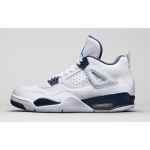 Air Jordan 4 Retro LS White Legend Blue-Midnight Navy Womens 314254-107