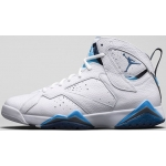 Air Jordan 7 Retro White French Blue University Blue-Flint Grey 304775-107