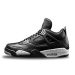 Air Jordan Retro 4 Oreo LS Black Black-Cool Grey Womens 314254-003