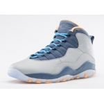 310805-026 Air Jordan 10 Retro  Wolf Grey Dark Powder Blue-New Slate-Atomic Orange