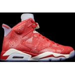"Pre order 2014 new 717302-600 Air Jordan 6 Retro ""Slam Dunk"" Varsity Red-White for women"